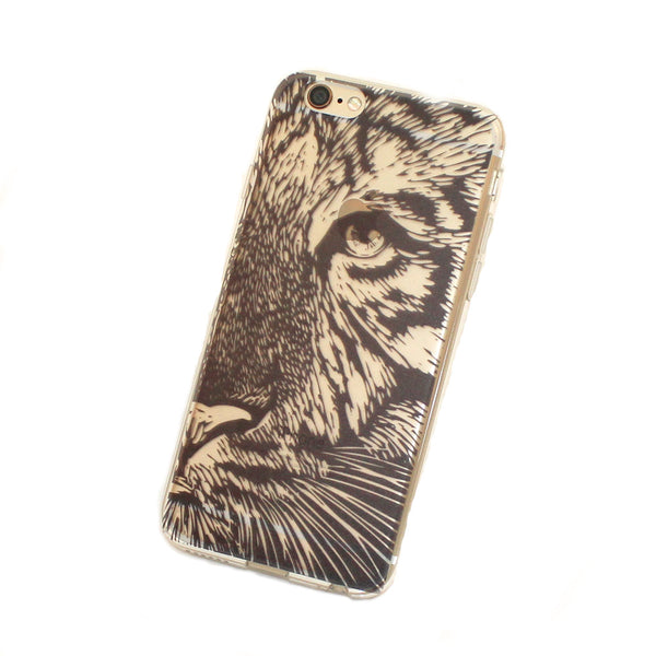 iPhone Tiger Case (Black)