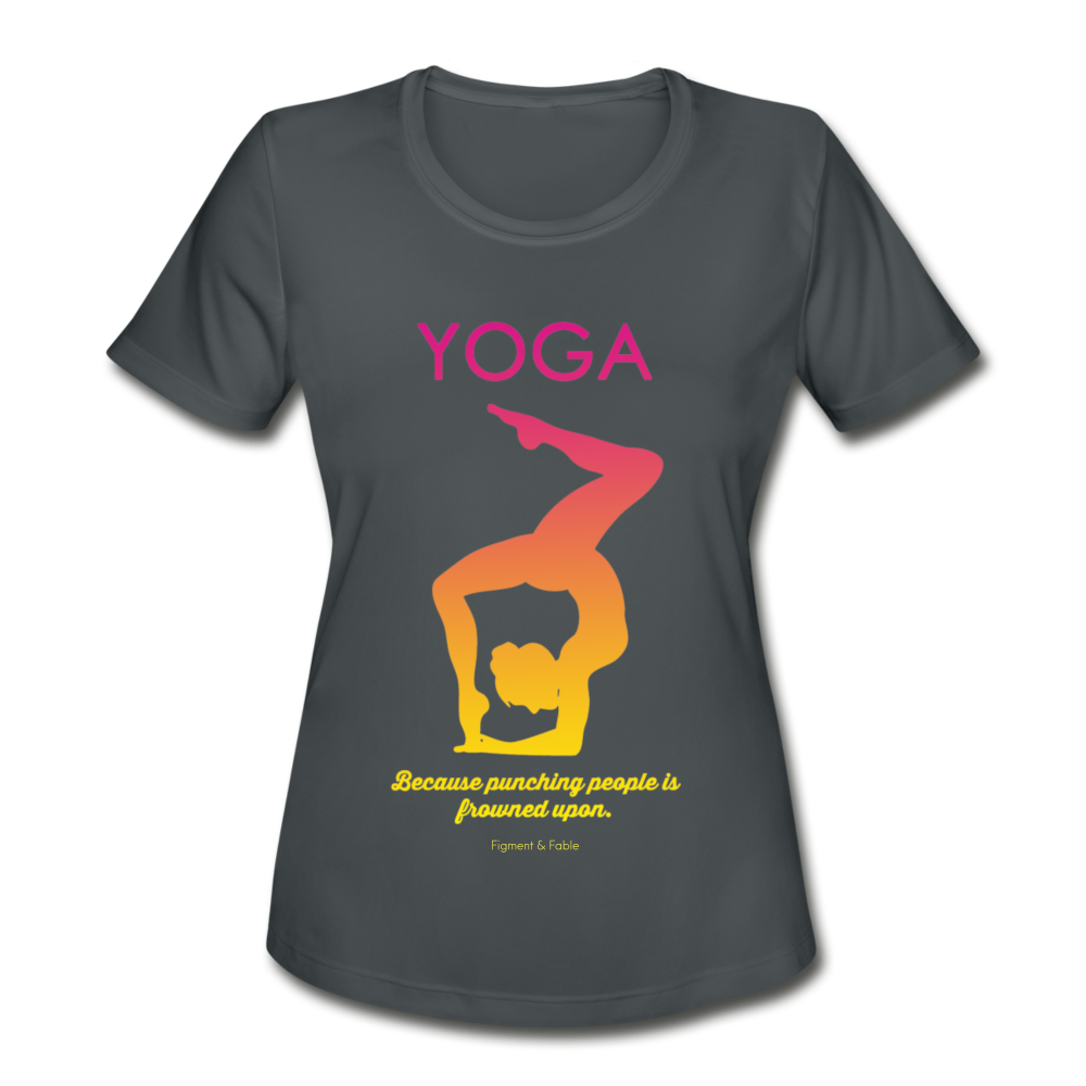 YOGA Moisture Wicking Performance T-Shirt - charcoal