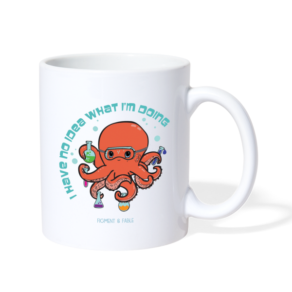 Octopus Scientist Coffee Mug - white