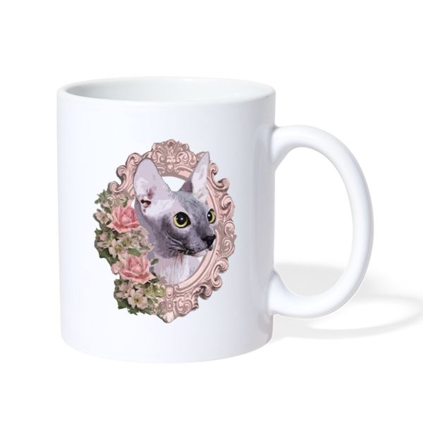 Sphinx Cat Coffee Mug - white