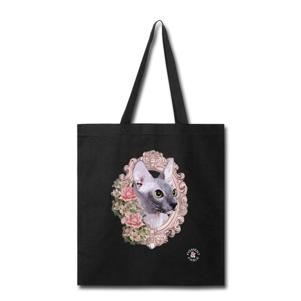 Sphinx Cat Tote Bag - black