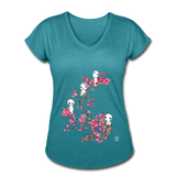 Forest Spirits V-Neck T-Shirt - heather turquoise