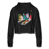 Snack Attack Women's Cropped Hoodie - deep heather