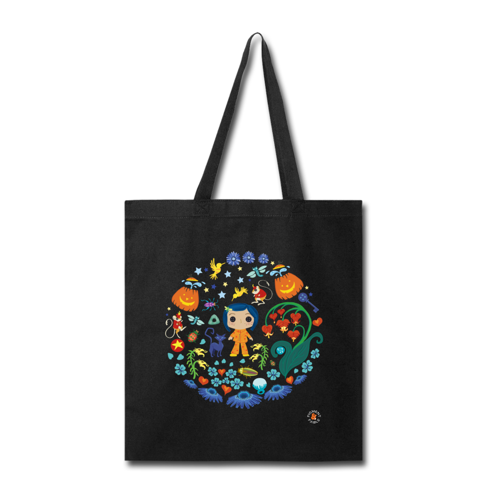 The Other Garden Canvas Tote - black