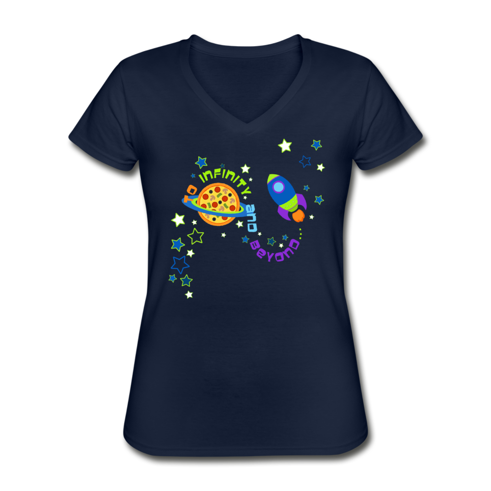 To Infinity & Beyond Women's V Neck T-Shirt - navy