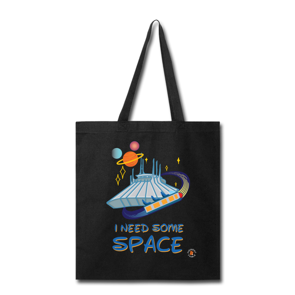 I Need Some Space Canvas Tote - black
