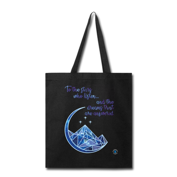 The Stars Who Listen Canvas Tote - black