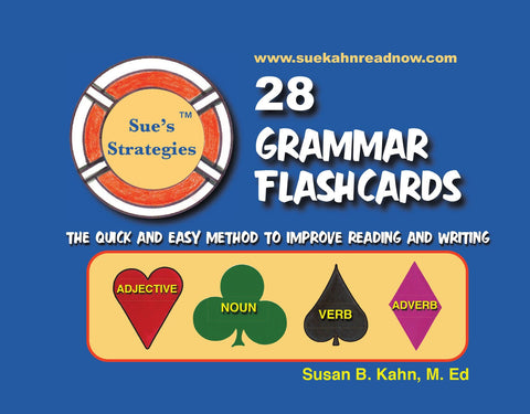 Sue's Strategies 28 Grammar Flashcards: The quick and easy way to improve reading and writing