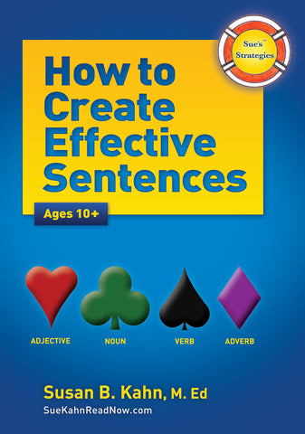 Sue's Strategies: How to Create Effective Sentences Ages 10+ Spiral-bound