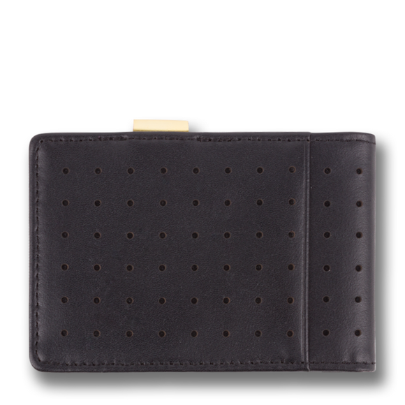 Orchill CONCORD MENS LEATHER  WALLET BLACK/GOLD