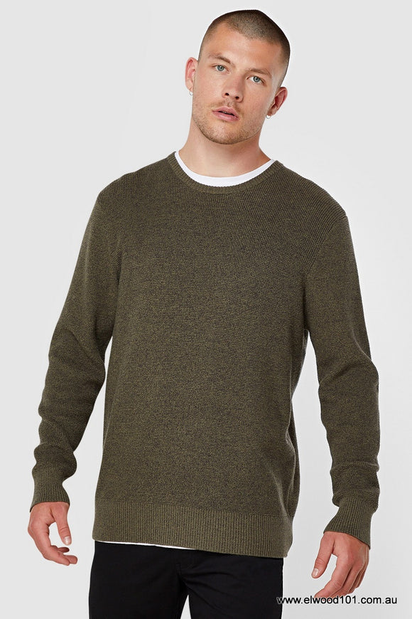 Elwood MENS ASH KNIT KHAKI..Last One Available