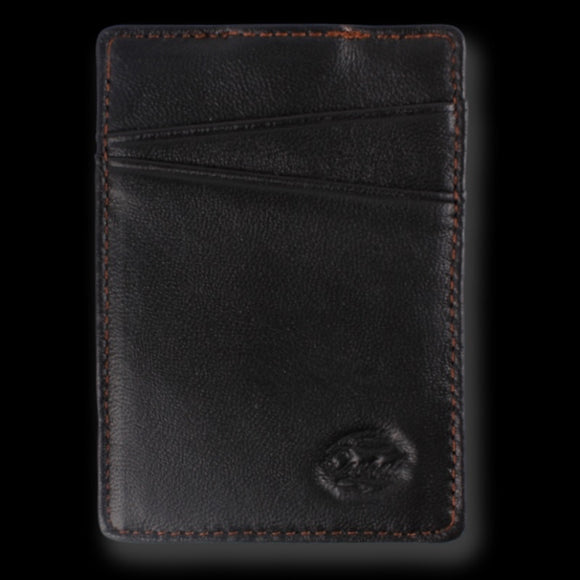 Orchill BOREAL MENS SLIM LEATHER WALLET BLACK/TAN - Elwood 101