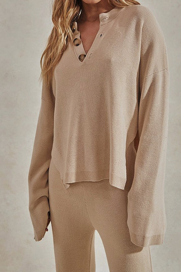 Sundays The Label WOMENS HERO KNIT TOP - BEIGE
