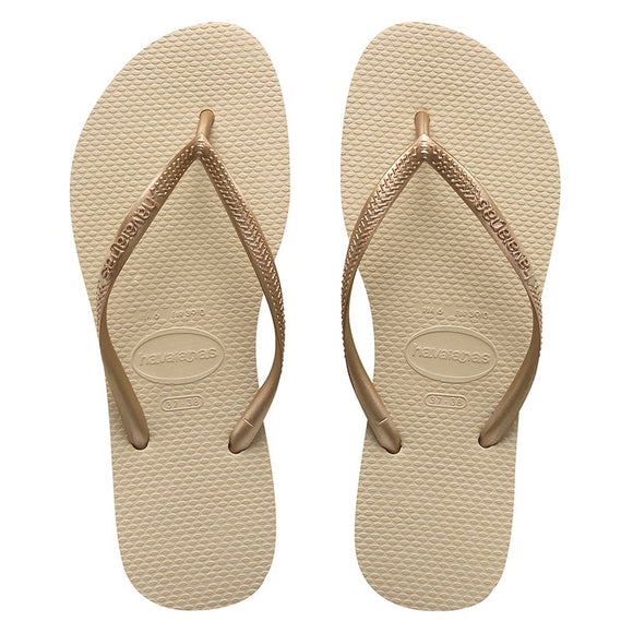 Havaianas SLIM METALLIC SAND GREY-LIGHT GOLDEN FEMALE THONGS