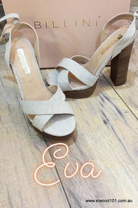 Billini  EVA NATURAL LINEN BLOCK HEELS