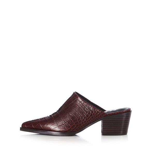 Alias Mae RILIE LEATHER MULES CHOC CROC