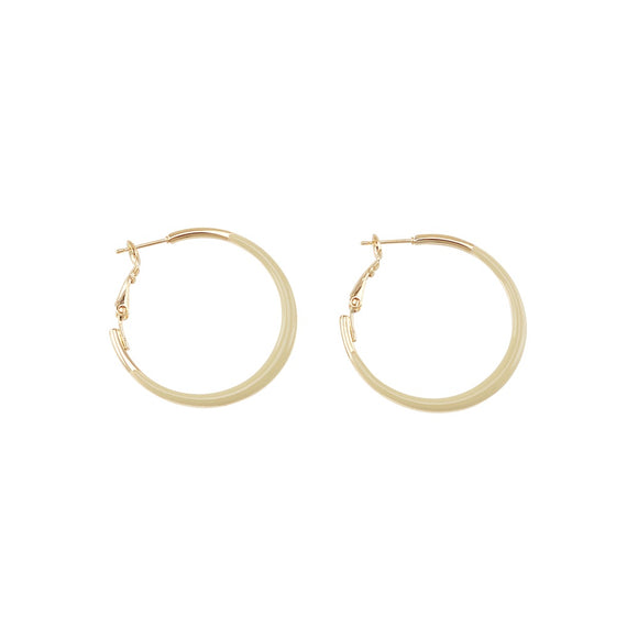 Jolie & Deen WOMENS JEAN HOOPS EARRINGS - TAUPE