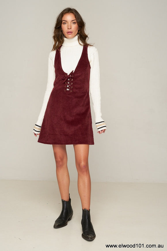 Rue Stiic HART PINAFORE POMEGRANATE