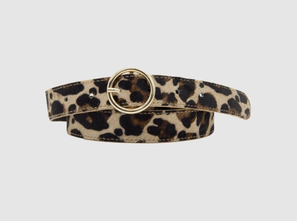 Loop Leather Co WOMENS LOGAN LEOPARD BELT - Elwood 101