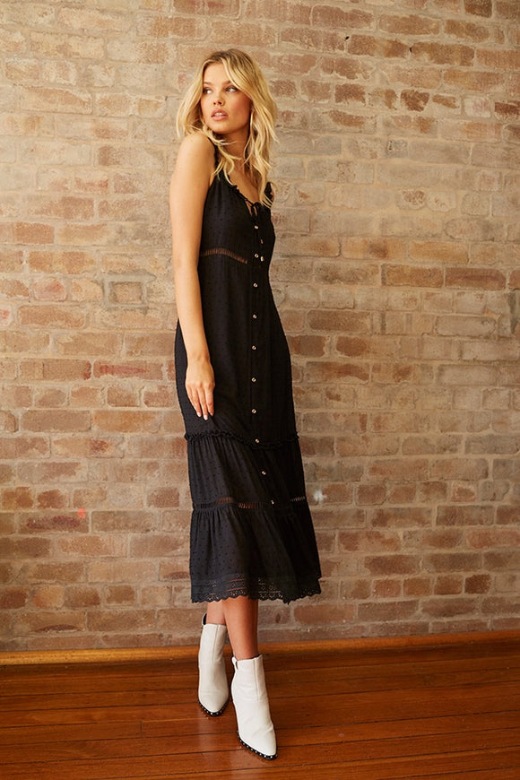 Somedays Lovin' HEY DARLING MAXI DRESS BLACK