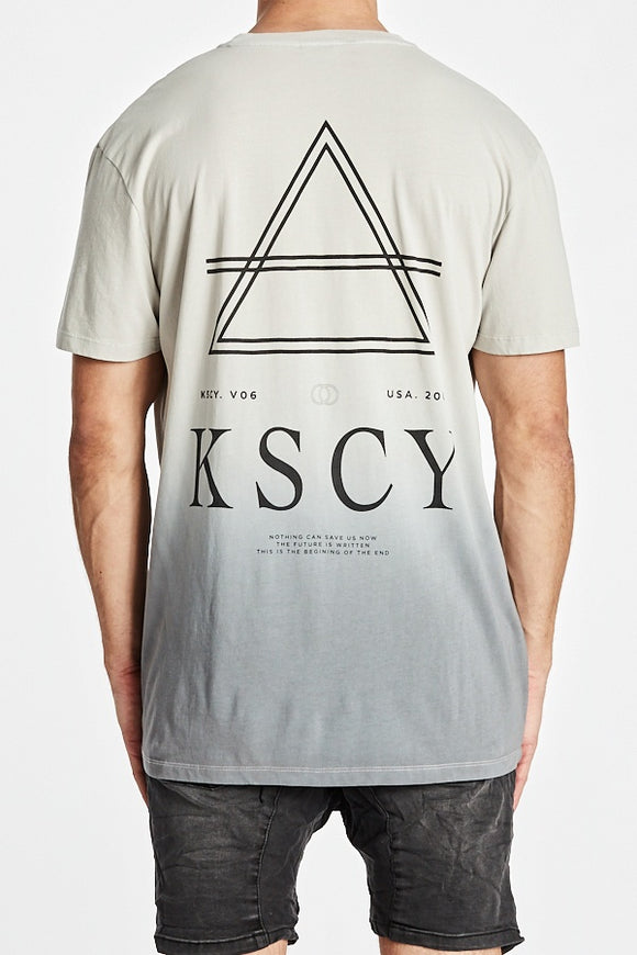 Kiss Chacey MENS NIGHTSHADE RELAXED TEE - SUNBURNT LEAD - Elwood 101