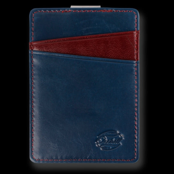 Orchill BOREAL LEATHER  WALLET BLUE / RED CORINTHIAN - Elwood 101