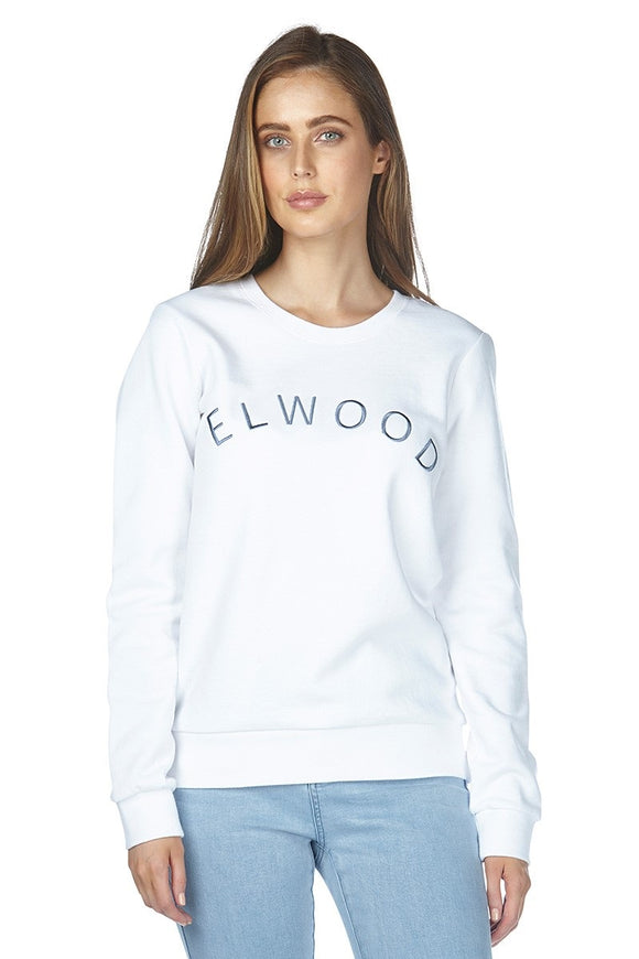 Elwood VICTORY CREW NECK SWEAT WHITE WOMENS
