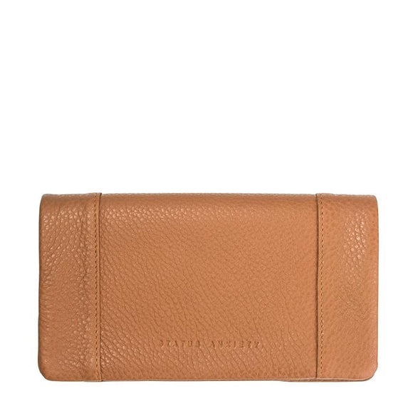 Status Anxiety WOMENS SOME TYPE OF LOVE WALLET TAN LEATHER - Elwood 101