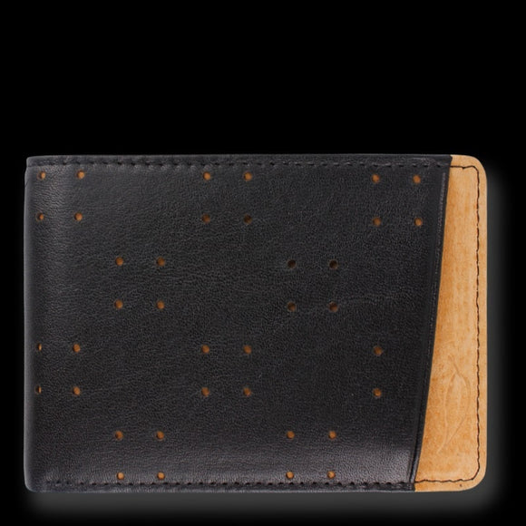 Orchill AV1 MENS LEATHER BI-FOLD WALLET BLACK & TAN - Elwood 101