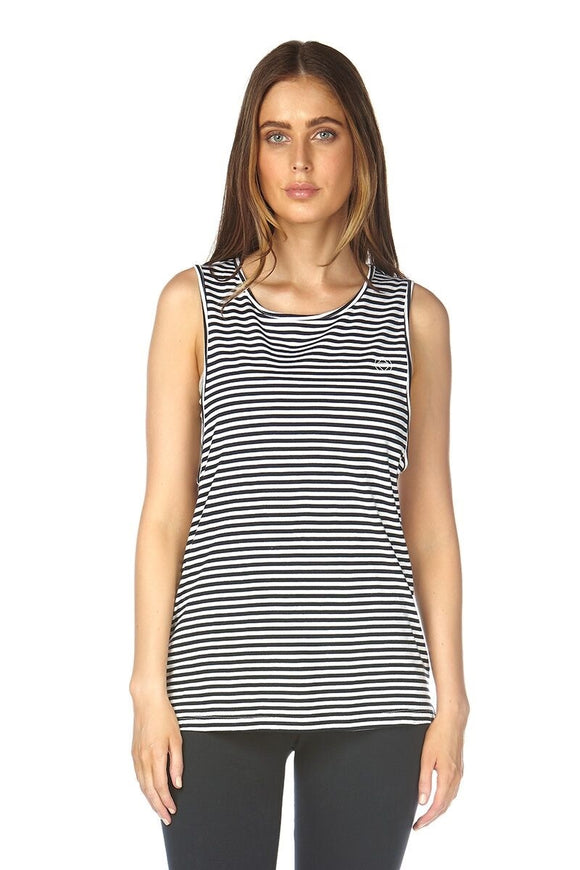ELWOOD LAUREL TANK NAVY STRIPE