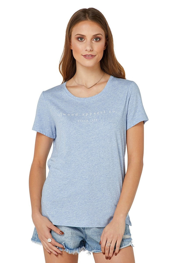 Elwood WOMENS COOPER TEE CHAMBRAY BLUE