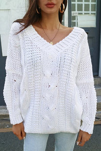 Sundays The Label WOMENS QUE KNIT OVERSIZED JUMPER - WHITE - Elwood 101