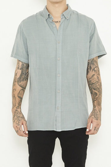 nANA jUDY MENS WHITEHALL SHORT SLEEVE SHIRT - PIGMENT GREY