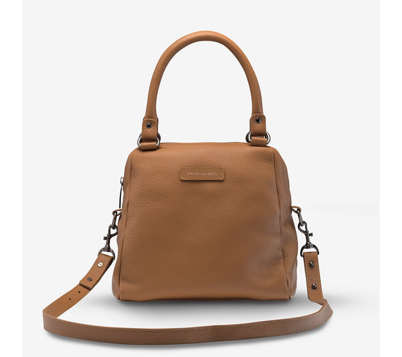Status Anxiety WOMENS LAST MOUNTAINS LEATHER BAG TAN - Elwood 101