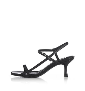 Alias Mae WOMENS BAMBI LEATHER HEELS - BLACK