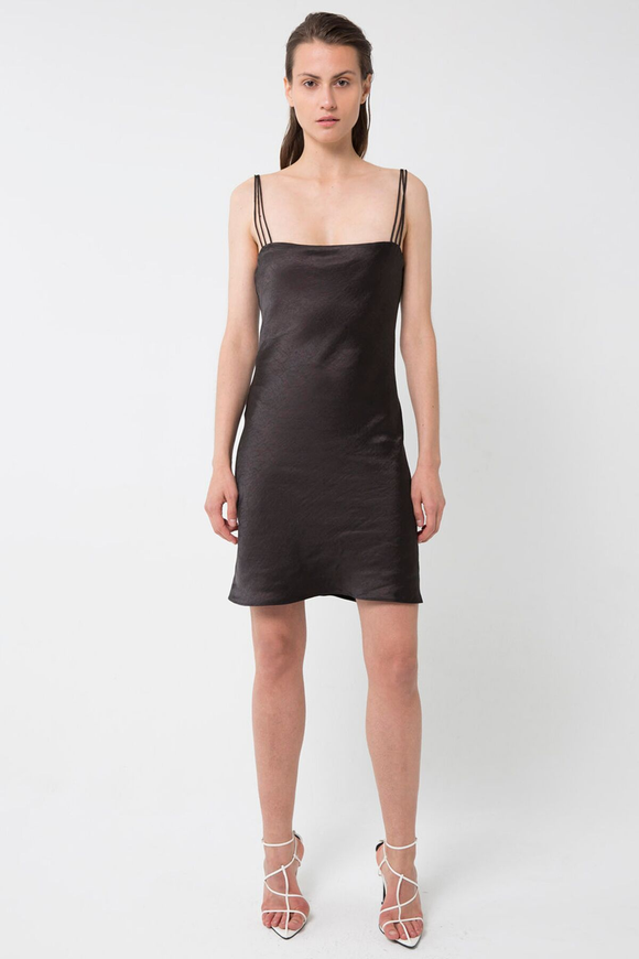 Third Form 90'S BIAS MINI SLIP DRESS BLACK.....Save 15% Details Below