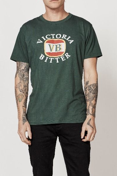 Rollas VB FLOCK TEE TRADE GREEN