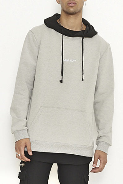 nANA jUDY MENS  ROXBURY HOODED SWEATER GREY MARLE