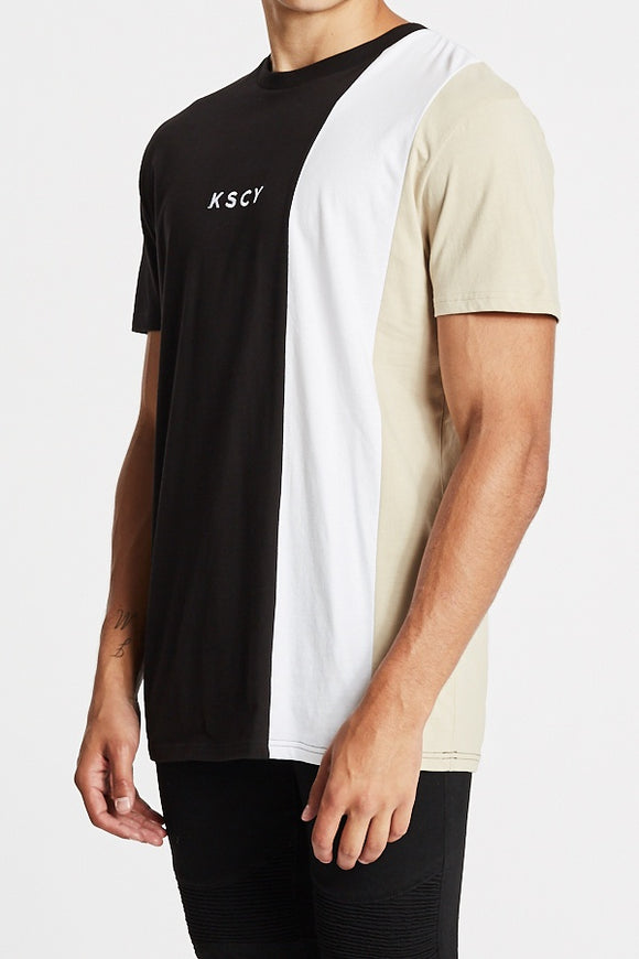 Kiss Chacey MENS  PROVIDER RELAXED TEE - BLACK/WHITE/SAND