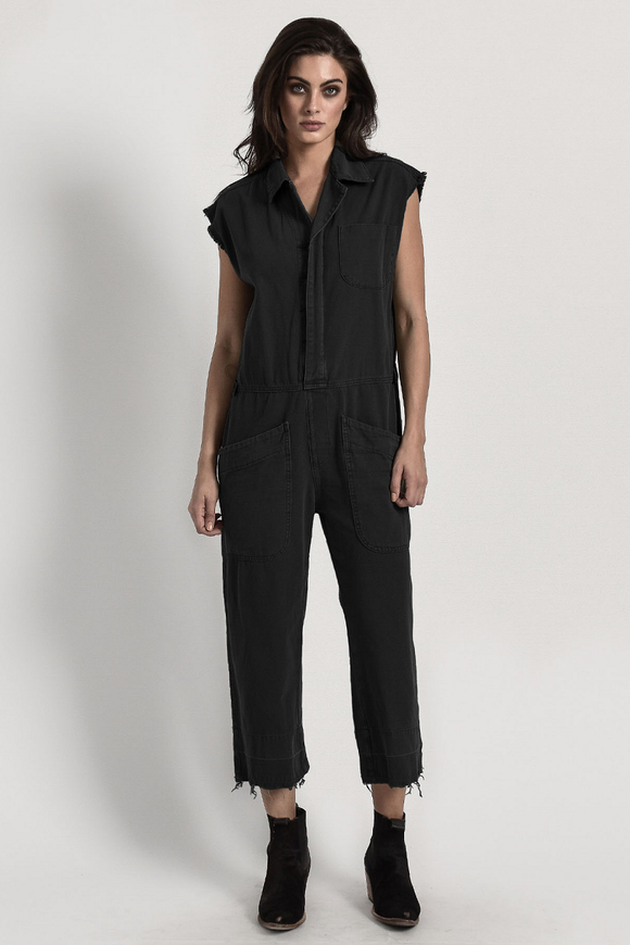 OneTeaspoon BLACK SAFARI CAMP OVERALLS