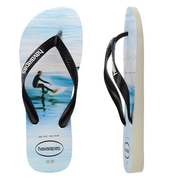 Havaianas HYPE WHITE- WAVE MALE THONGS