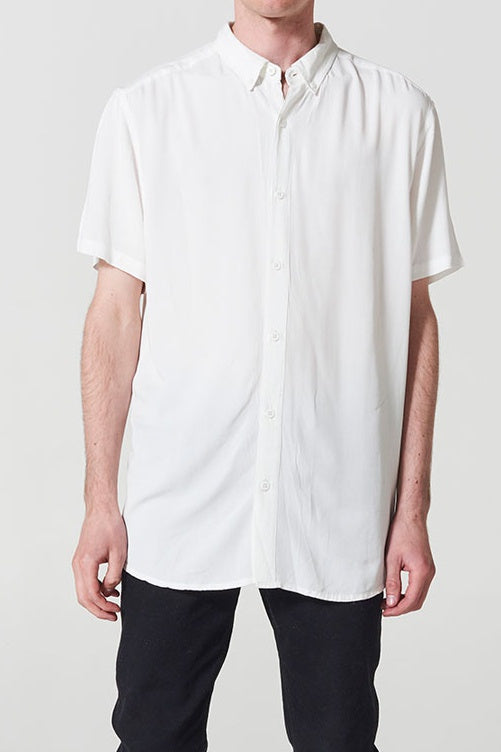 nANA jUDY MENS WHITEHALL SHORT SLEEVE SHIRT - WHITE - Elwood 101