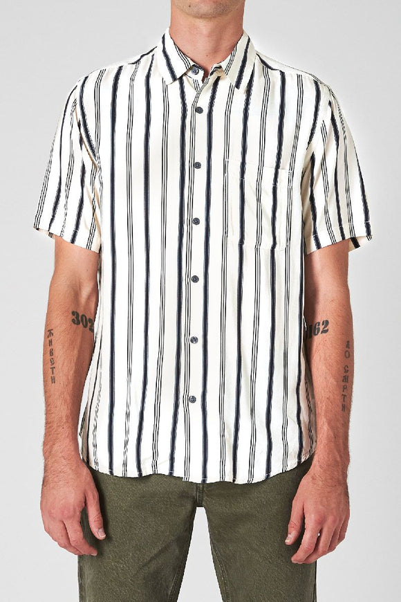 Neuw MENS SURRY SHORT SLEEVE SHIRT WHITE - Elwood 101