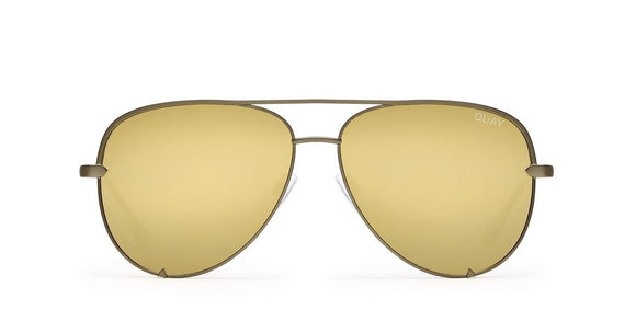 Quay Australia HIGH KEY GREEN/GOLD SUNGLASSES - Elwood 101