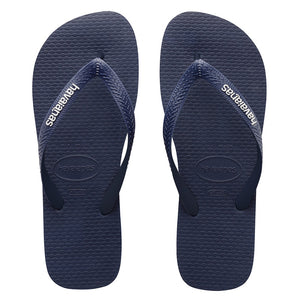 Havaianas RUBBER LOGO NAVY BLUE-NAVY BLUE-WHITE MALE THONGS - Elwood 101