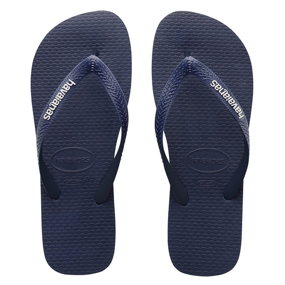 Havaianas RUBBER LOGO NAVY BLUE-NAVY BLUE-WHITE MALE THONGS