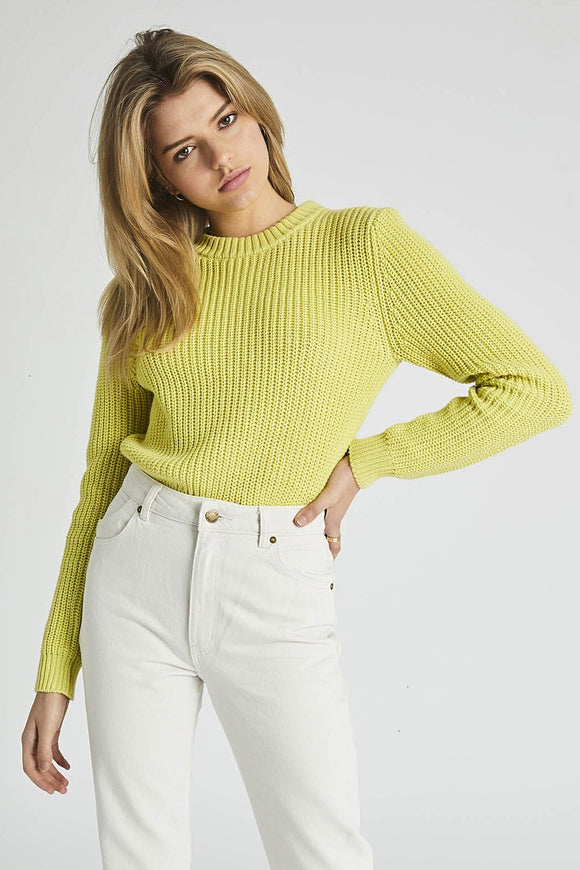 Rollas WOMENS SAILOR SWEATER - CITRON