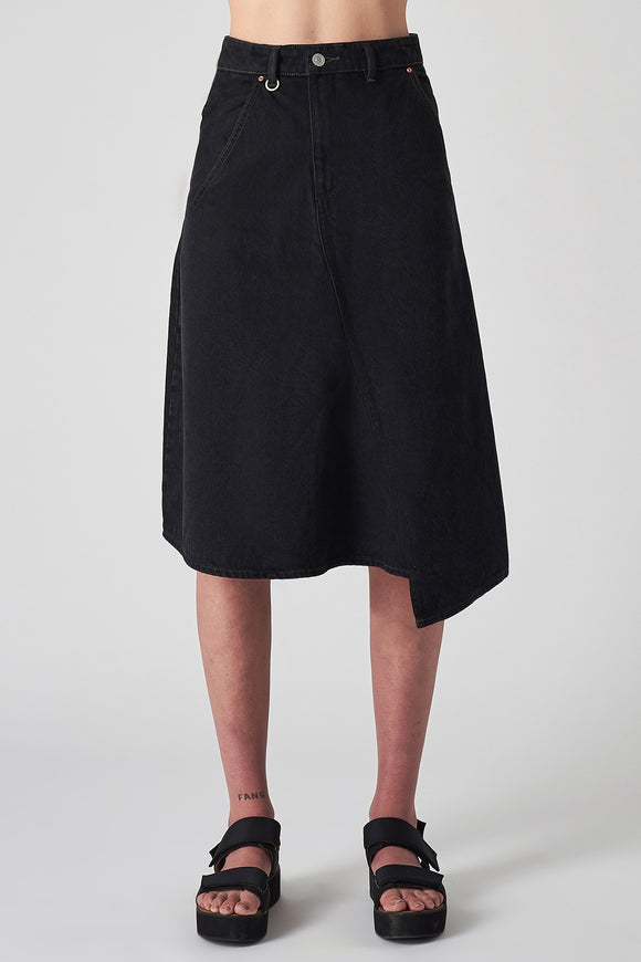Neuw WOMENS FAWCETT DENIM MIDI SKIRT MUSE