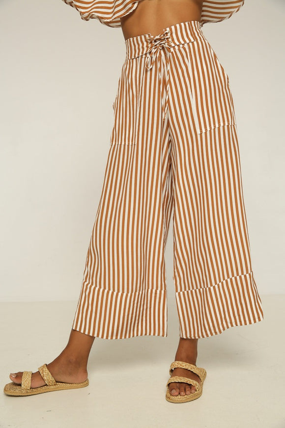 Rue Stiic ANNI LACED PANT GOLD STRIPE