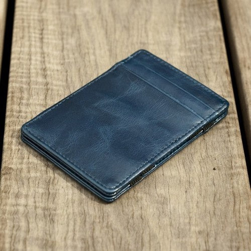 Orchill MAGIC LEATHER WALLET CORINTHIAN BLUE - Elwood 101